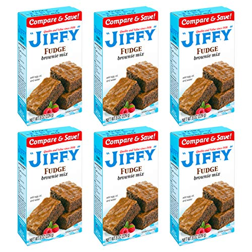 Jiffy Fudge Brownie Mix 8 Ounce Boxes Pack of 6