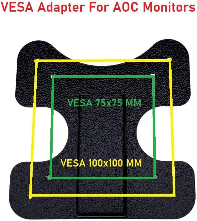 MP-AOL06 VESA Mount Adapter Bracket for AOC Monitors, i2367Fh, i2367Fm, i2367F, i2757Fh, i2757Fm, i2067F, i2267Fw, and i2267Fwh in Black (1 Pack)