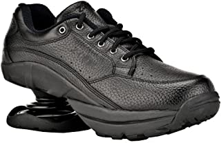 Z-CoiL Pain Relief Footwear Men's Legend Rugged Outsole Black Leather Tennis Shoe