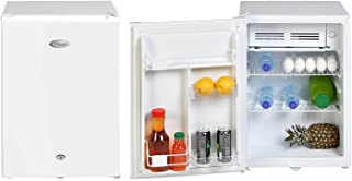 Super General 90 Liter Gross Volume Compact Mini-Refrigerator SGR-045-H, White, Beverage-Fridge with Child Lock, Shelf, Fr...