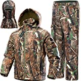 NEW VIEW Upgraded Hunting Clothes for Men,Silent Water Resistant Hunting Suits,Hunting Jacket and Pants (XXL, Upgrade Camo Tree)
