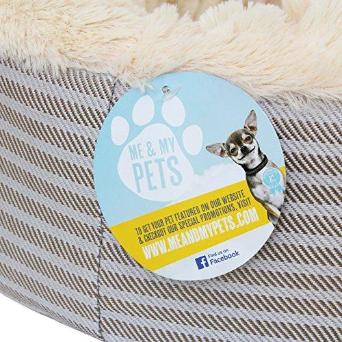 """Me & My Pets Herrlich weiches Haustierbett """"Donut"""" für Katzen, Welpen und kleine Hunde - 6"""