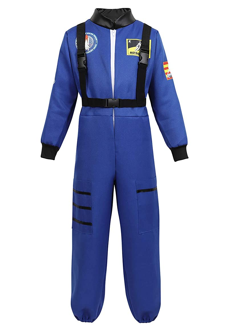 Children's Astronaut Costume Jumpsuit Dress up Role Play Costume for Kids Boys Girls Pretend Play Spaceman Suit Set