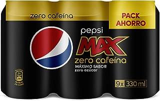 Pepsi Max, Refresco de cola (Zero Cafeina) - 9 latas