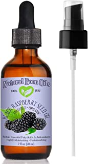 2oz Black Raspberry Seed Oil, 100% Pure and Natural, Cold-Pressed, Unrefined, Organic, for Healthy Skin and Hair - Include...