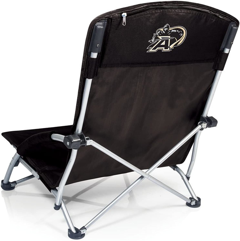 NCAA Army Black Knights Tranquility Portable Folding Beach Chair, Black
