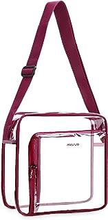 MOSISO Clear Crossbody Bag TSA/NFL/NCAA Stadium Approved Shoulder Messenger