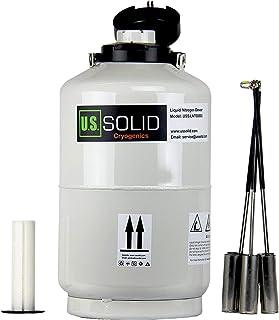 comprar comparacion U.S.Solid 10 L tanque nitrogeno liquido contenedor nitrógeno líquido criogénico LN2 Dewar con 6 recipientes