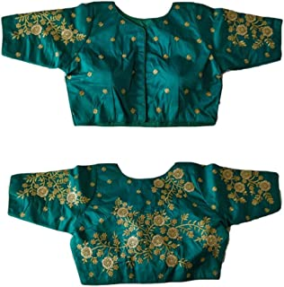 Women's Party Wear Readymade Bollywood Designer Indian Style Padded Blouse for Saree Crop Top Choli 846 Sky Blue
