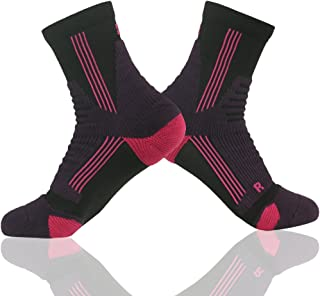 MUSCLE WAY Ankle Quarter Socks, Cushioned Sport Hiking/Running Socks 1/3/6 Pairs