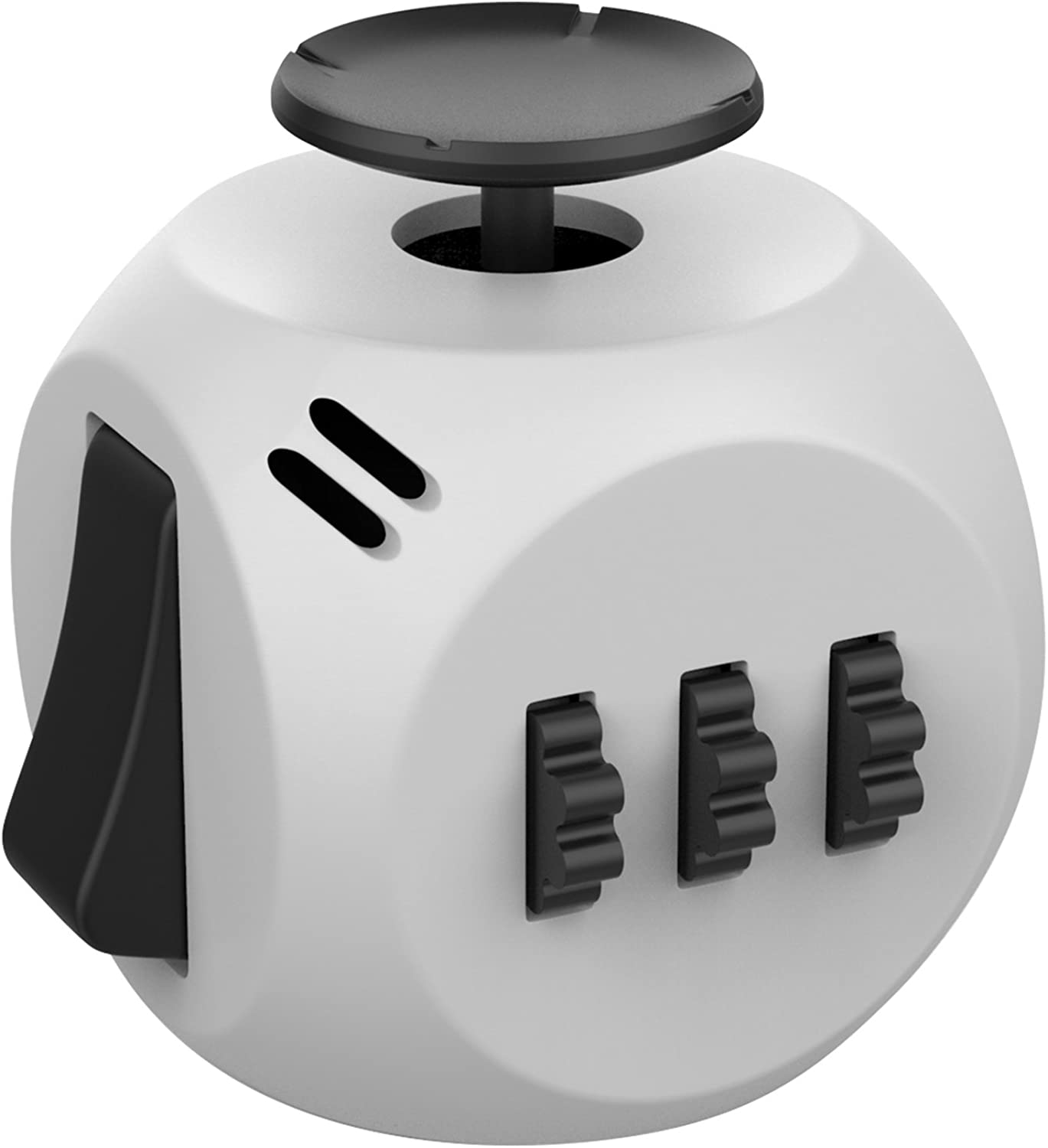 Fidget Cube, Helect New Generation 3.0 Fidget Cube Toy Relieves Stress and Anxiety with Portable Design for Work, Class and Home (Grey Black)