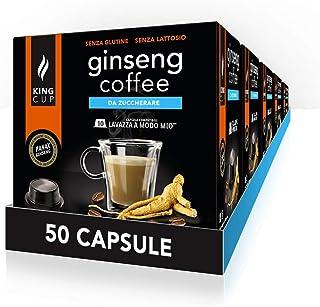 King Cup - 5 Paquets de 10 Capsules de Ginseng Sans Sucre, 50 Capsules 100% Compatible avec le Système Lavazza as Modo Mio...