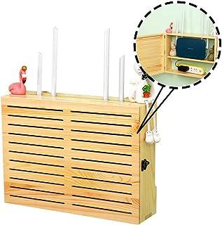 Caja de Almacenamiento de Caja de TV de WiFi Router TV, Reproductor de DVD, zócalo, enrutador, Cable, Cargador, Caja de Al...
