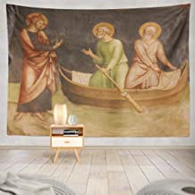 Deronge Jesus Tapestry, Italy July Depicting Jesus Saint and Architecture Tapestry Wall Hanging Decor 50x60 Inch Wall Art Tapestry for Men Bedroom Home Decor Decorative Tapestry Dorm Decor,Italy July