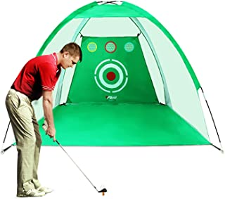 PGM Golf Net Golf Training Aids Practice Net for Backyard Swing Hitting Chipping with Target Bundles with Carry Bag and Golf Balls Indoor Outdoor Sports