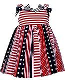 Bonnie Jean Patriotic Americana Sundress (Flag Stripes, 6, Numeric_6)