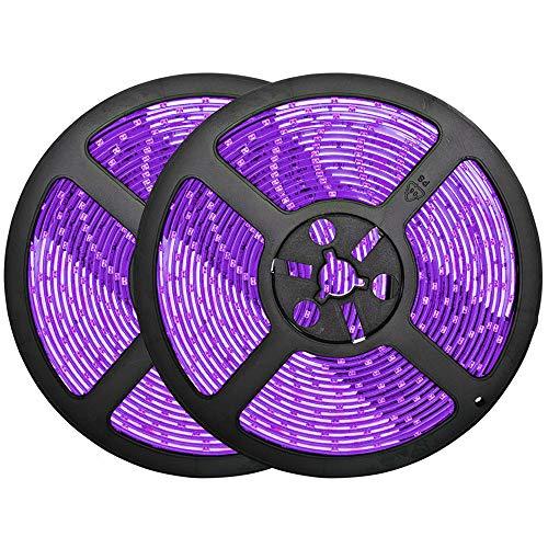 32.8ft Purple LED Strip Lights, Waterproof IP65 Led Strip SMD2835 Dimmable 600LEDs 12V Purple LED Strip Under Cabinet, Bar, Car, Bedroom, Red LED Lights Holiday Decoration Lighting LED Tape 2 Rolls