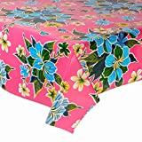 FANMEX - Fantastik - Mantel de Hule para Mesa (120 cm Ancho - Largo por Medio Metros) Modelo Hibisco Rosa