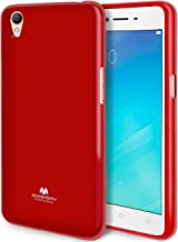 Goospery Pearl Jelly for Oppo A37 Case (2016) with Screen Protector Slim Thin Rubber Case (Red) OPPOA37-JEL/SP-RED