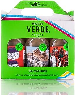 EMPAQUE ESPECIAL TRIPACK MEZCAL VERDE 200ml.