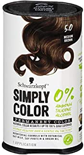 Sponsored Ad - Schwarzkopf Simply Color Permanent Hair Color, 5.0 Medium Brown