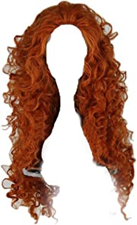 Xcoser Long Curly Princess Merida Cosplay Wig for Cosplay, Style a, Size Normal