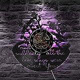 fdgdfgd Negro Retro CD Canciones de Amor Son Sus Citas Inspiradoras pájaro Animal doméstico Disco de Vinilo Reloj de Pared | Reloj de Pared Colgante de 7 Colores