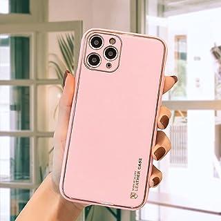 12 Pro Max mobiltelefon skal hud konsistens Aple 11 galvaniserat vanligt läder Huawei mate 40 RS skyddsväska, gel gummi he...
