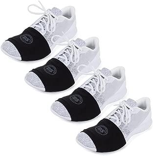 100% USA Made Over Sneaker Socks for Dancing on Smooth Floors (4 Pair Packs)