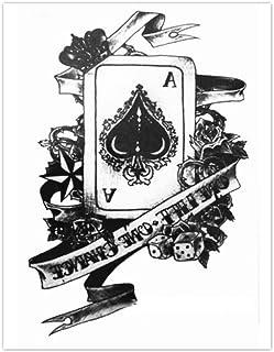 EROSPA® Tattoo-Bogen temporär - Aufkleber Karte Pik Ass /