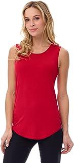 Camiseta sin Mangas de Punto Jersey Suave de Mujer (S-XXL)