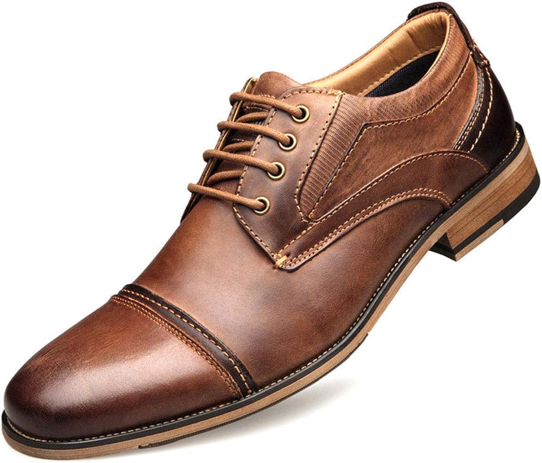 Herren Business Derby Leder Schuhe Formelle Kleidung Schnürschuhe Schuhwerk Lssige Schuhe mit niedrigem Absatz Für Herren