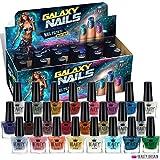 Kit de 24 vernis à ongles brillants de couleurs différentes dans une luxueuse boîte