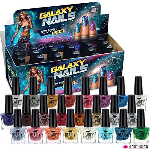 24 Glitzer Nagellack Set 24 Verschiedenen Farben 5 ML Perfekte Geschenk