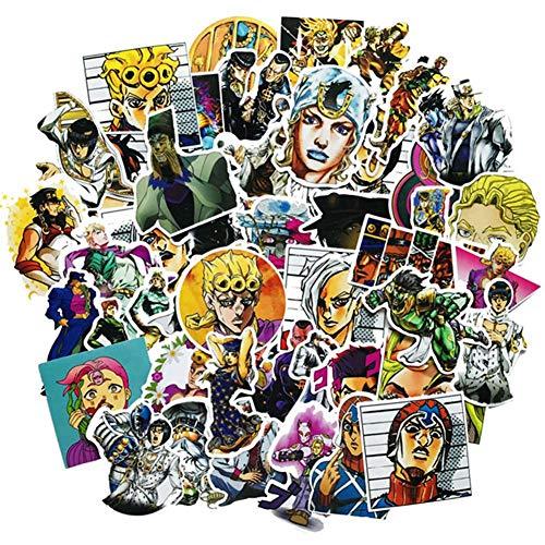 Apehuyuan 50 PCS Waterproof JoJo's Bizarre Adventure Stickers Anime Decal Vinyl Sticker for Laptop, Luggage, Skateboard