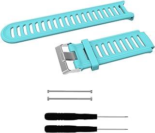Dovewill  交換 Forerunner 910XT腕時計に適用 快適 シリコーン+メタル製 バンド ストラップ  - 緑