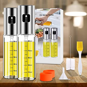 Anmyox Olive Oil Sprayer Set, 100ml 5 IN 1 Oil Dispenser Glass Bottle for BBQ Salad Cooking Roasting Grilling Baking(...