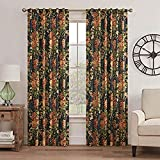 WAVERLY Curtains for Bedroom - Kensington Bloom 52' x 84' Decorative Single Panel Rod Pocket Window Treatment Privacy Curtains for Living Room, Gem