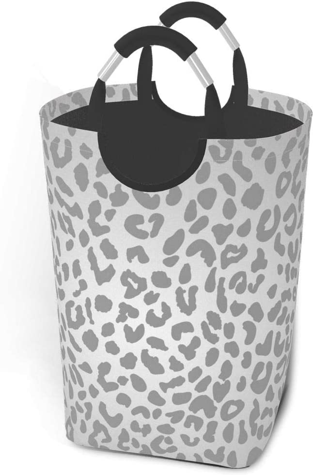 LJGBliss Large Laundry Basket Leopard Print Pattern mart Gray Animal Year-end gift