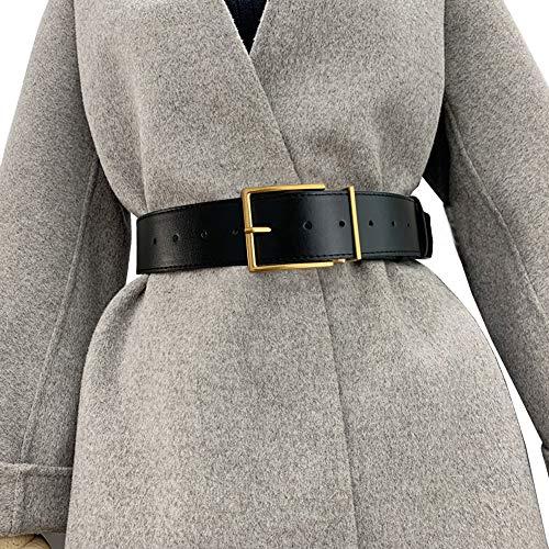 Longwu, cinturón de cuero PU con hebilla cuadrada a la moda para...