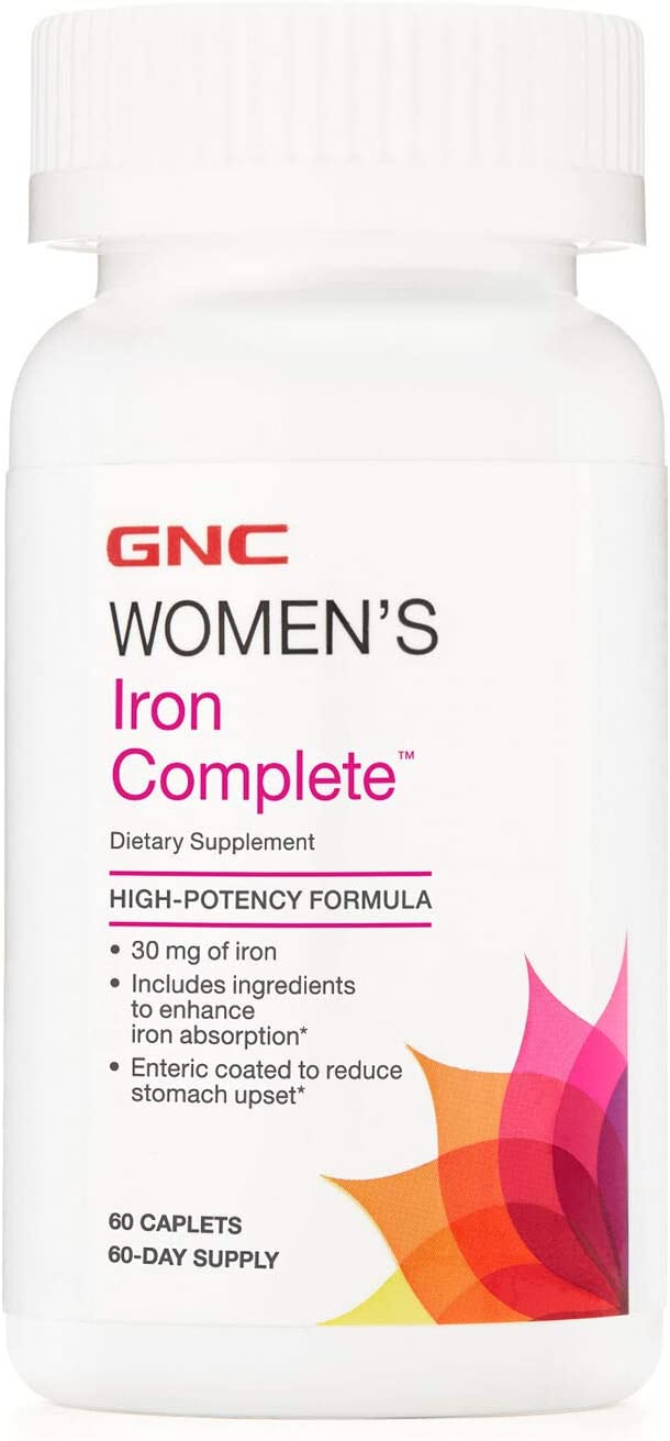 GNC Women's Iron Complete Multivitamin 60 Abi Cheap sale Caplets 2021 spring and summer new Enhances