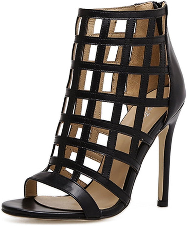 IINFINE Women's Peep Toe Rivet Roman High Heels Sexy shoes Gladiator Fashion Sandals