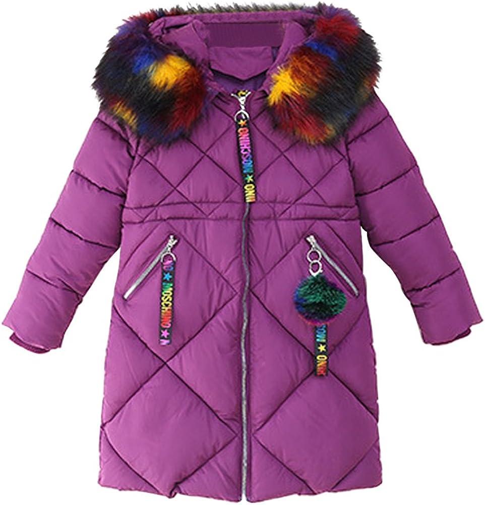 Phorecys Girls Autumn Winter Jacket Cotton Coat Warm Outerwear Clothes