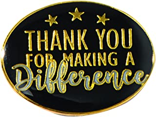 Thank You for Making a Difference Appreciation Award Pins, 12 Pins