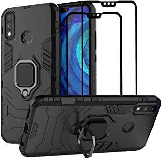 EasyLifeGo for Huawei Y8S Kickstand Case with Tempered Glass Screen Protector [2 pieces], Hybrid Heavy Duty Armor Dual Lay...