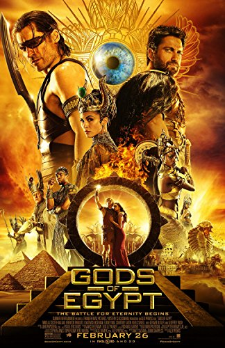 GODS OF EGYPT Original Movie Poster 27x40 DS - FINAL - CHADWICK BOSEMAN - RUFUS SEWELL - GERARD BUTLER