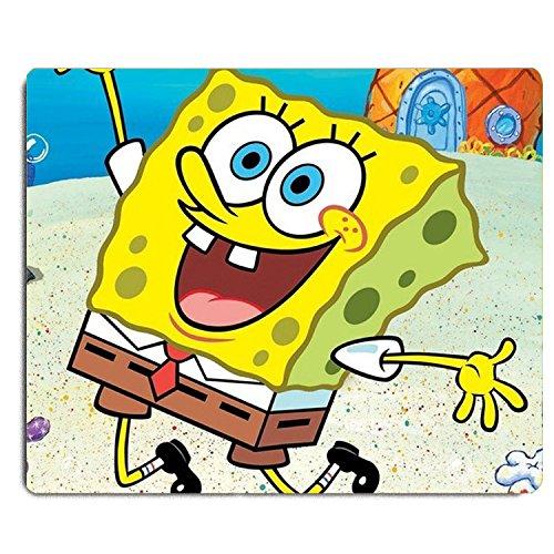 REINDEAR 9.5x8' Cartoon SpongeBob SquarePants Mouse Pad Mouse Mat US SELLER (Happy SpongeBob)