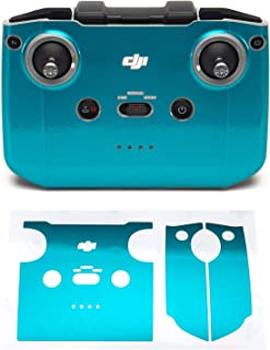 Wrapgrade Skin kompatibel med DJI Mini 2 | Fjärrkontroll (CARIBBEAN BLUE)