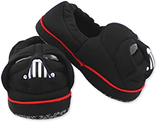 Star Wars Darth Vader Toddler Boy's Plush A-Line Slippers with 3D Head