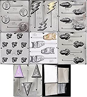 Harry Potter Chocolate Frog Mold Kit - Includes 7 Molds 100 Bags 100 Sticks 100 Ties